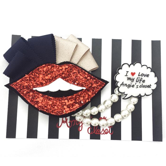 lipモチーフブローチ【lip brooch】